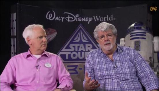 Джордж Лукас и Том Фицджералд в интервю за G4tv.com
