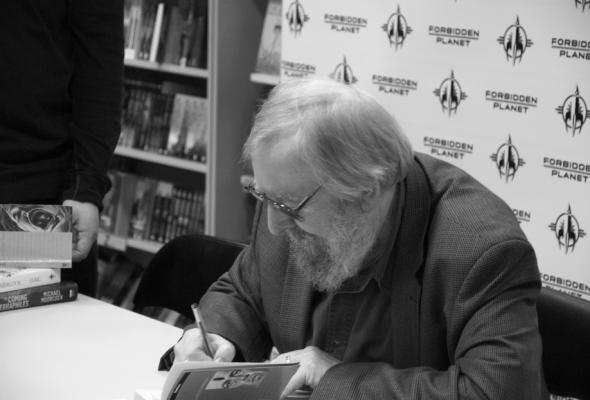 Michael Moorcock, London, 21st October 2010, Signing at Forbidden Planet in LondonMichael_Moorcockby_joelmeadows1