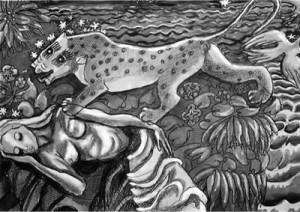 """Илюстрация към разказа """"Посещение"""" от Анна Каван"""