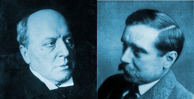 Илюстрация към Хърбърт Уелс и Хенри Джеймс: неразрешеният спор