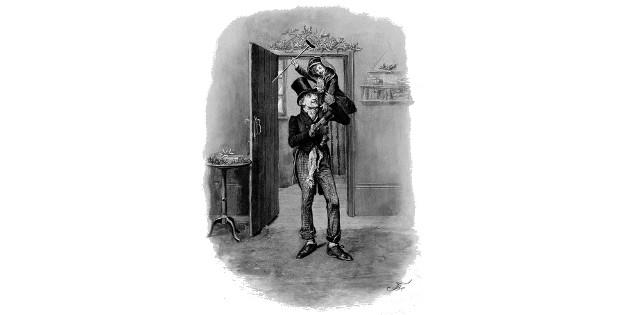 Илюстрация към Кол и чук, от Димитър Цолов, разказ