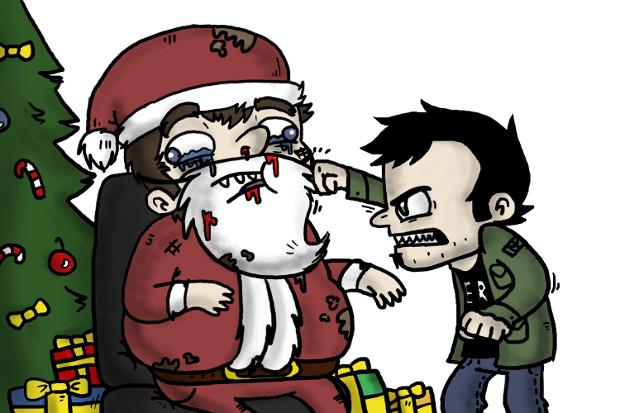 Илюстрация към Весела Коледа, от Валентин Попов, разказ