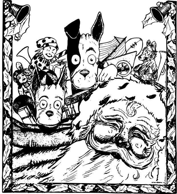 Илюстрация към Балада за Хари Клаус, от Виктор Иванов, разказ