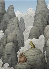 Илюстрация към Краставото жабче нарисува Пенко Гелев