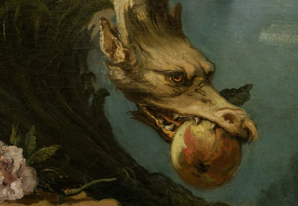 картината Drachen от Giovanni Battista Tiepolo
