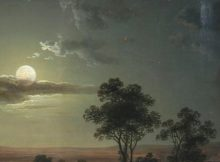 fragment-Abraham_Pether_-_Evening_scene_with_full_moon_and_persons_(1801)