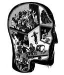 Снимка на Умалена илюстрация от Борис Праматаров към Гласовете на диаболизма