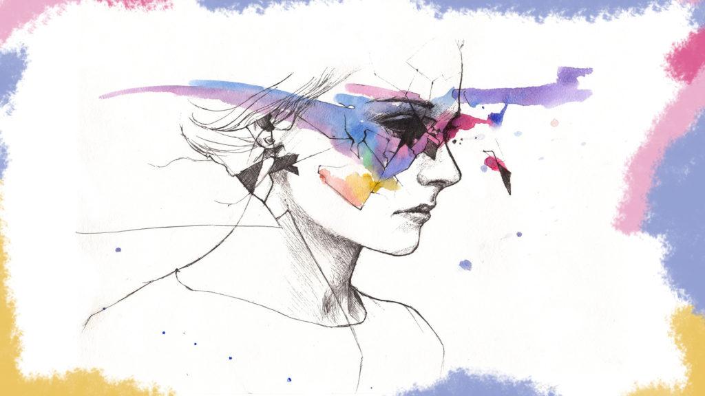 Илюстрация - рисунка на жена