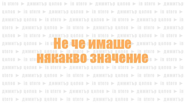 In Utero, от Димитър Цолов
