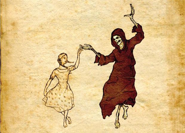 Илюстрация към Крадецът на книги, от Маркъс Зюсак