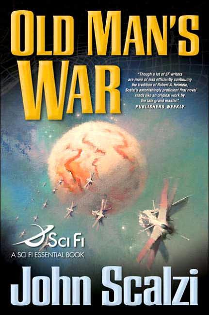 Корица на Old Man's War, от John Scalzi