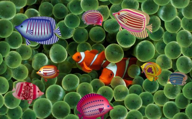 Фрактални риби в истинско море, от Атанас П. Славов