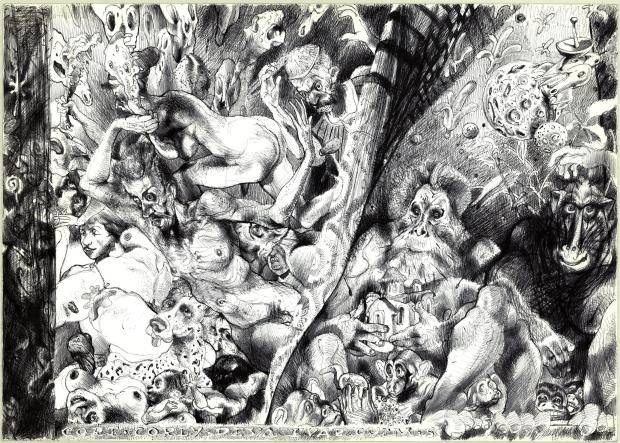 Илюстрация: Илюстрация към разказа -Еволюцията- на  Ивайло Иванов, от Калин Николов