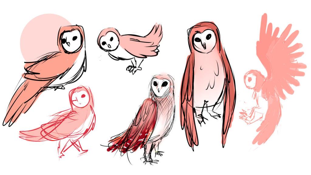 Рисунки на сови