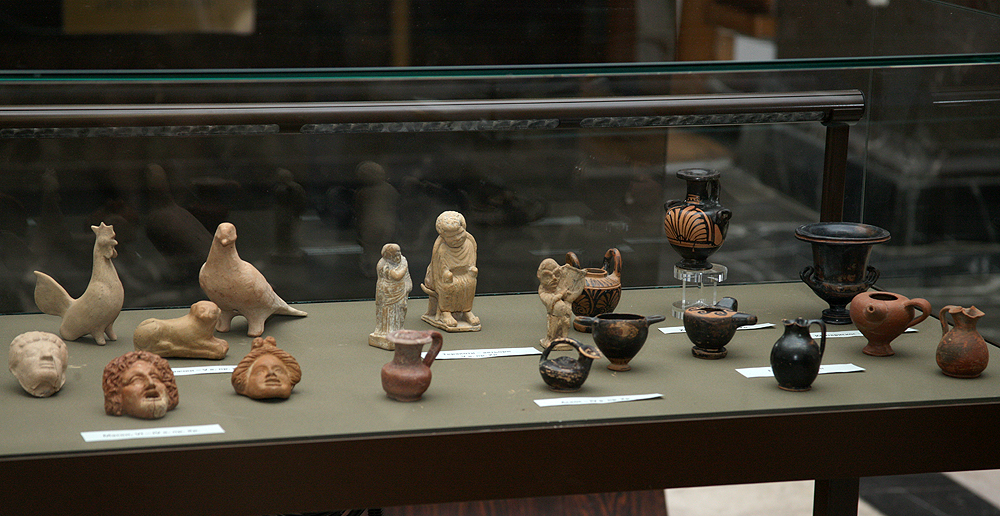 витрина с археологически находки